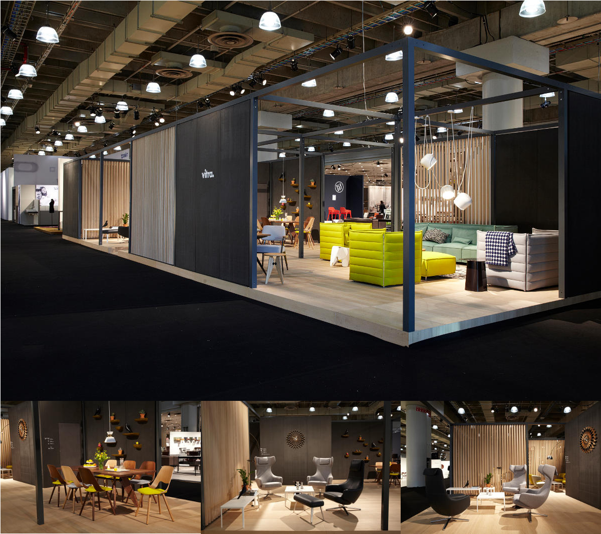 Stand van Vitra 2014 in International Contemporary Furniture Fair ICFF in New York