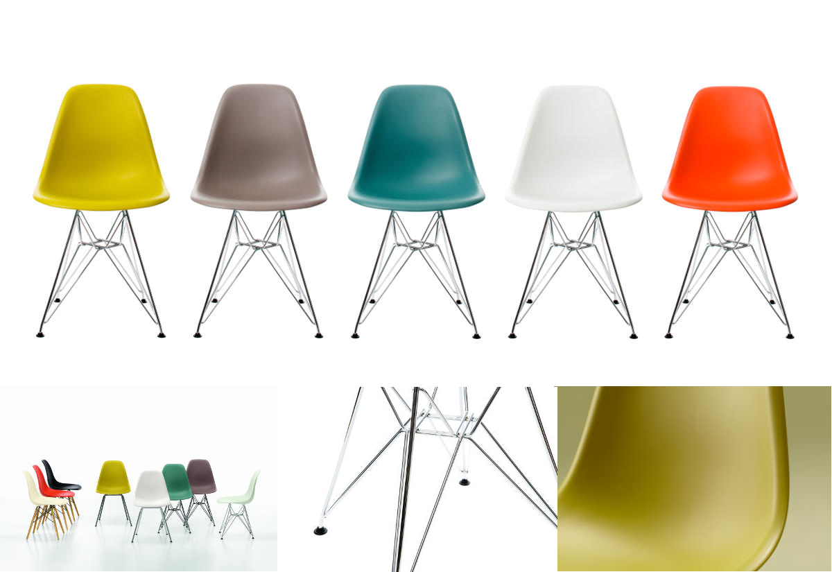 Eames Plastic Side Chair DSR Ontwerp door Charles en Ray Eames
