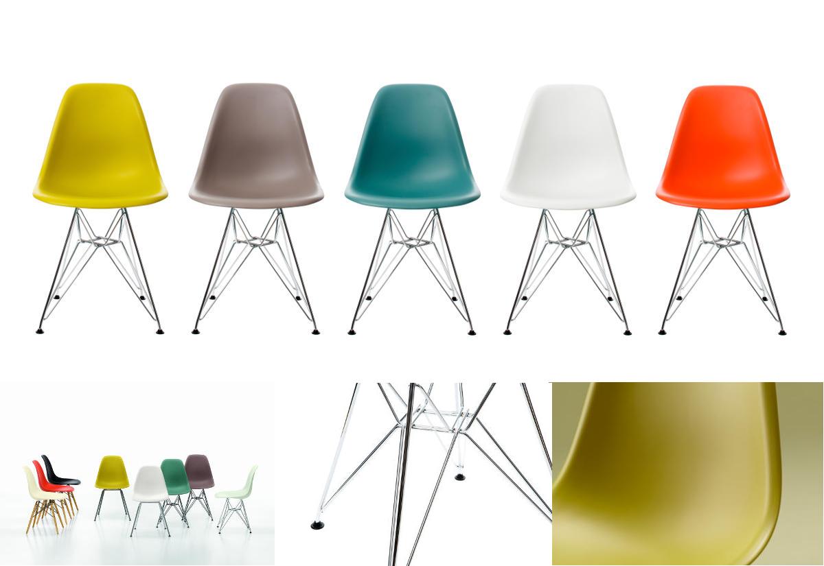 Eames Plastic Side Chair DSR Ontwerp door Charles en Ray Eames