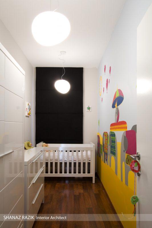 Inrichting babykamer interieurarchitect shanaz razik - Babykamer kleine ruimte ...